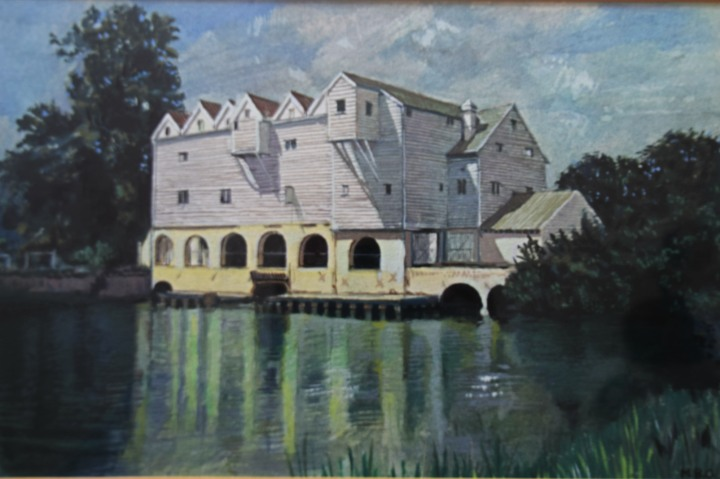 Horstead Mill watercolour
