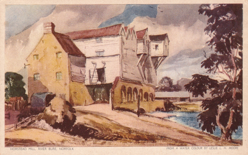 Horstead Mill, postcard