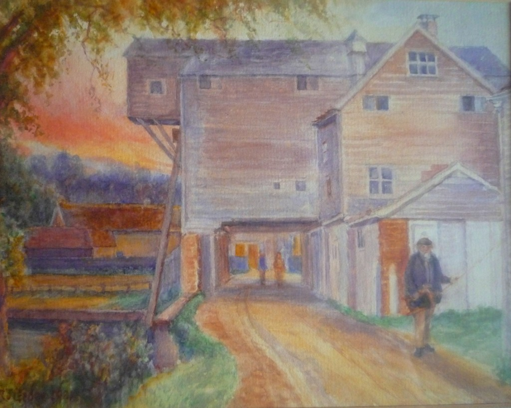 Horstead Mill, watercolour