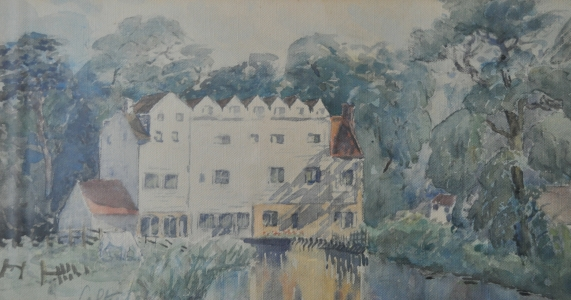 Horstead Mill [rear view] watercolour