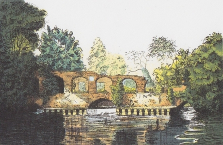 Horstead Mill [Post Fire] Pen and wash