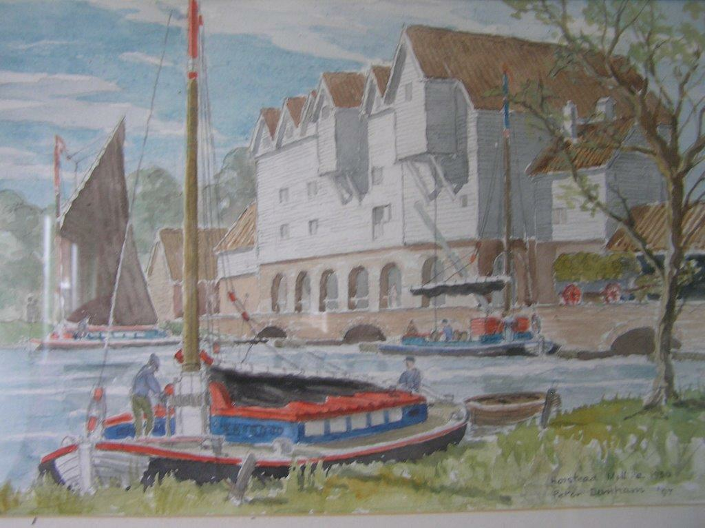 Horstead Mill, watercolour